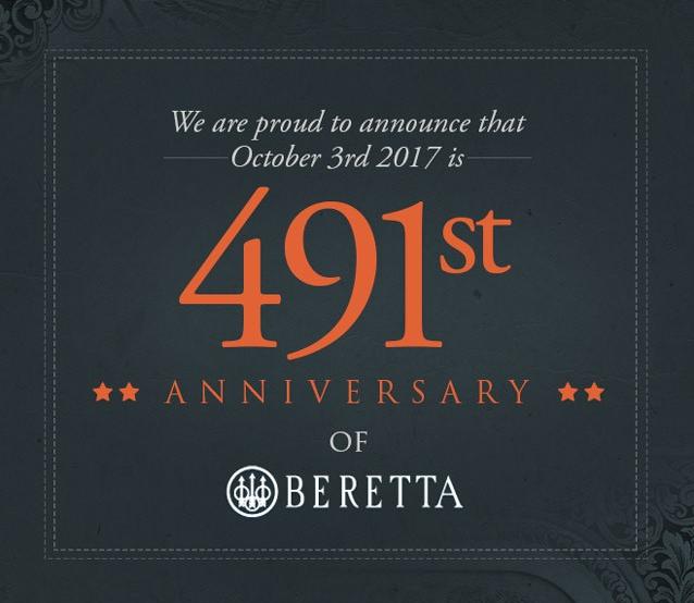 Nos complace anunciar el 491 aniversario de BERETTA