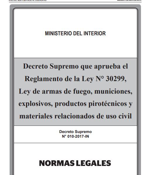 Reg Ley N. 30299